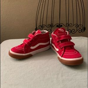 Vans toddler shoes in Red and white size 8.5